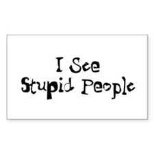 Stupid People Decal