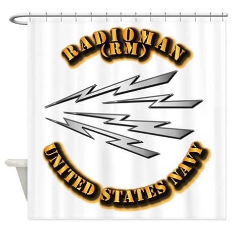 Navy - Rate - RM Shower Curtain