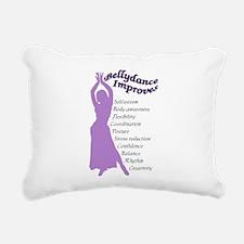 bellydance improves Rectangular Canvas Pillow