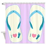 Flip Flops Shower Curtain