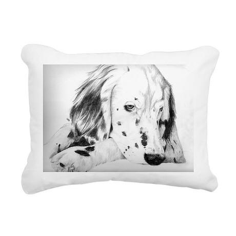 Sleepy Puppy Rectangular Canvas Pillow
