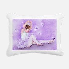 Ballet De Papillon Rectangular Canvas Pillow