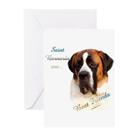 Smooth Saint Best Friend Greeting Cards (Package o