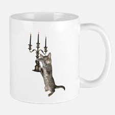 Cat with Candelabra Mug