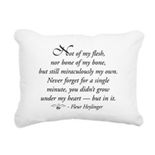 Not of my flesh Rectangular Canvas Pillow