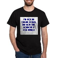 Organ Doner Black T-Shirt