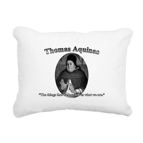 Thomas Aquinas 04 Rectangular Canvas Pillow