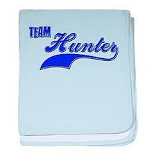 Team Hunter baby blanket
