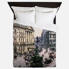 Vintage Piccadilly Circus Queen Duvet
