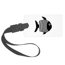 Black And White Angel Fish Luggage Tag