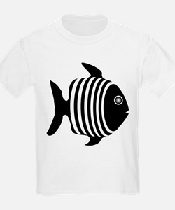 Black And White Angel Fish T-Shirt