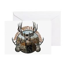 Trophy Montana mule deer Greeting Card