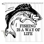 Fishing Is A Way Of Life Shower Curtain