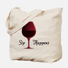 Cute Wine Tote Bag