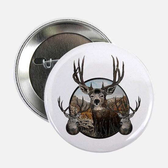 "Mule deer oil painting 2.25"" Button"