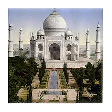Vintage Taj Mahal Tile Coaster