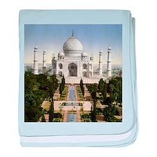 Vintage Taj Mahal baby blanket
