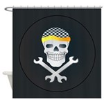 Skull and Tools Shower Curtain