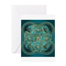 Teal Celtic Tapestry Greeting Card