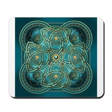 Teal Celtic Tapestry Mousepad