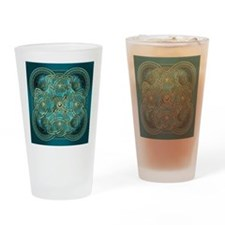 Teal Celtic Tapestry Drinking Glass