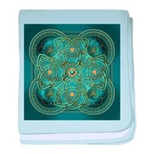 Teal Celtic Tapestry baby blanket