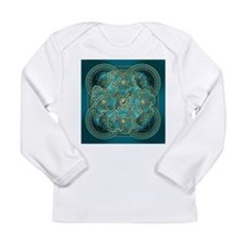 Teal Celtic Tapestry Long Sleeve Infant T-Shirt
