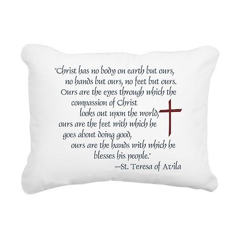 St. Teresa of Avila Quote Rectangular Canvas Pillo