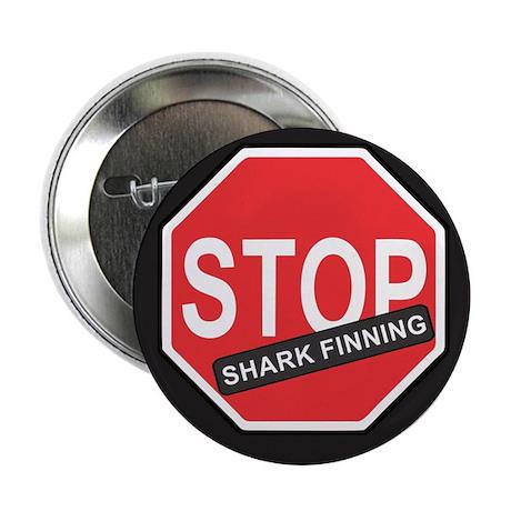 """Stop Shark Finning 2.25"""" Button"""