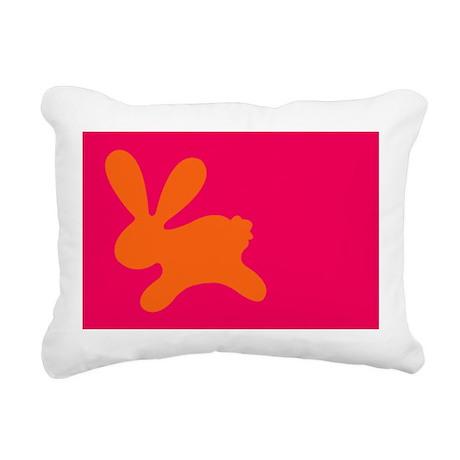 Rabbit O Rectangular Canvas Pillow