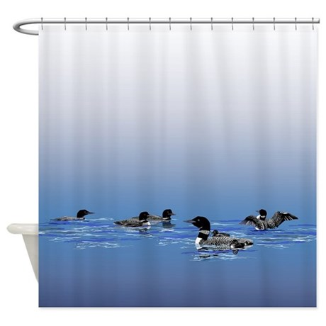 Loon Shower Curtain Shower Curtain