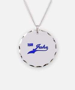 Team Jake Necklace Circle Charm