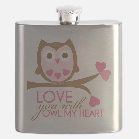 Love you with owl my heart Flask