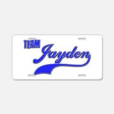 Team Jayden Aluminum License Plate