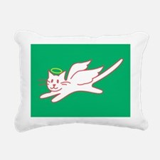 White Angel Kitty on Green Postcards (8 pack)