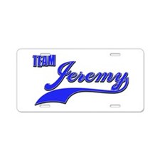 Team Jeremy Aluminum License Plate