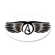 Atheist Wings Wall Decal