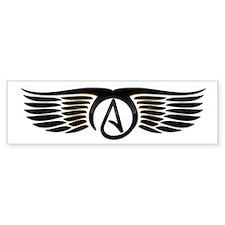 Atheist Wings Bumper Sticker