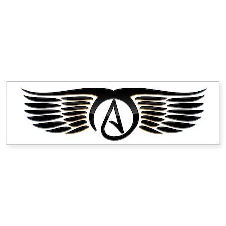 Atheist Wings Sticker (Bumper)