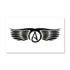 Atheist Wings Car Magnet 20 x 12