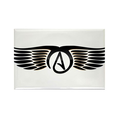 Atheist Wings Rectangle Magnet (10 pack)