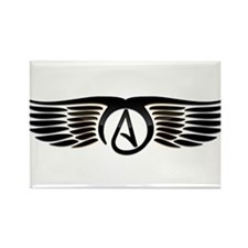 Atheist Wings Rectangle Magnet