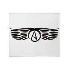 Atheist Wings Throw Blanket