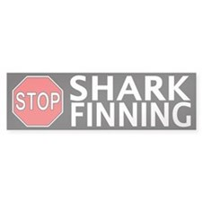 Stop Shark Finning Bumper Sticker