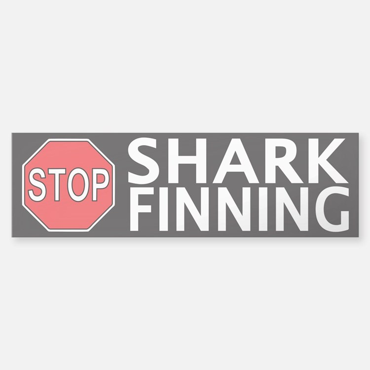 Stop Shark Finning Sticker (Bumper)
