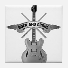 ROCK AND GROHL Tile Coaster