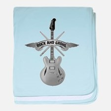 ROCK AND GROHL baby blanket