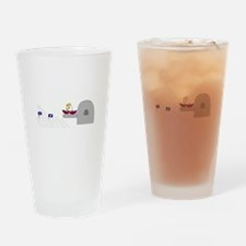 The Queen Drinking Glass