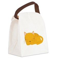 Orange Tabby Cat Canvas Lunch Bag