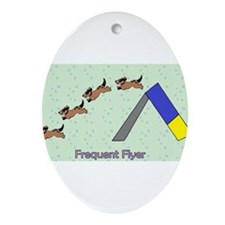 Frequent Flyer Ornament (Oval)